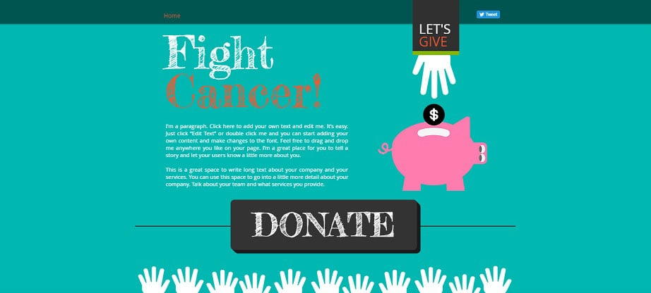 Fight Cancer Free Wix Theme