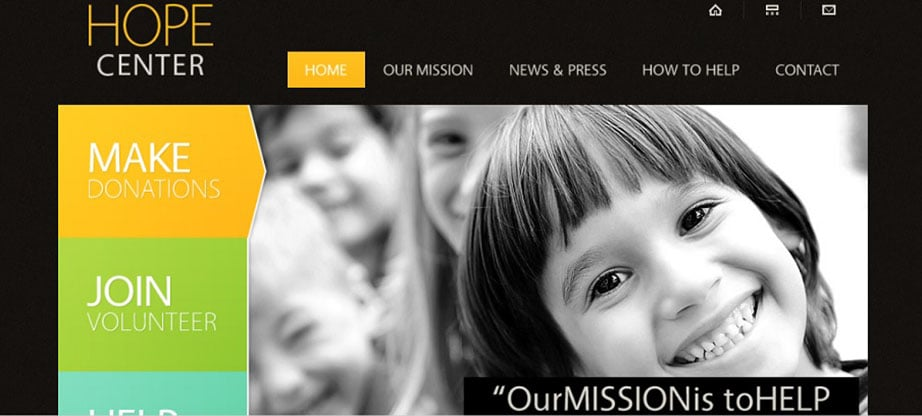 Hope Charitable Trust Website Template