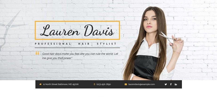 Lauren Davis Landing Page Template