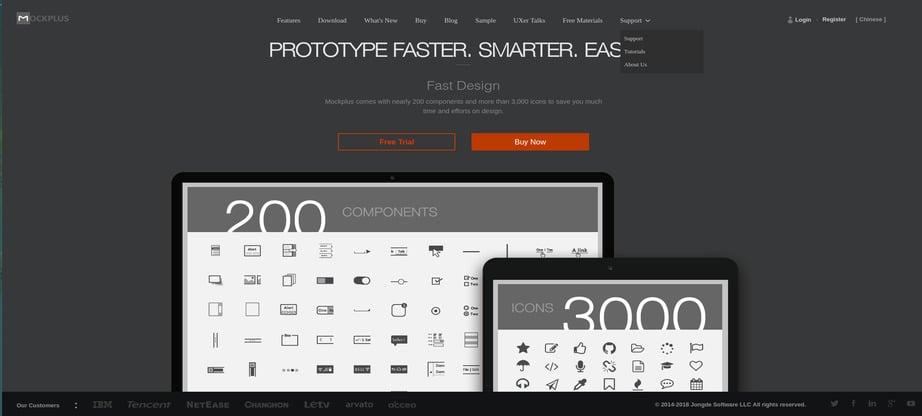 prototyping tools mockplus image