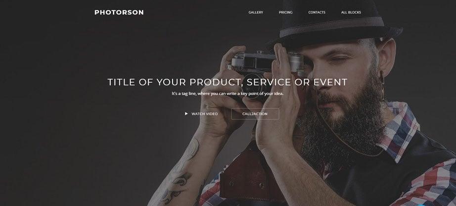 Photorson Landing Page Template