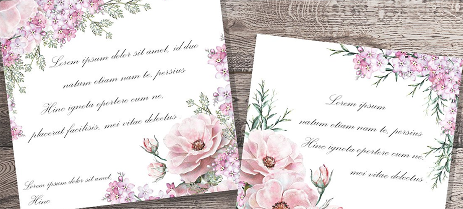Watercolor Floral Design Set. Flower