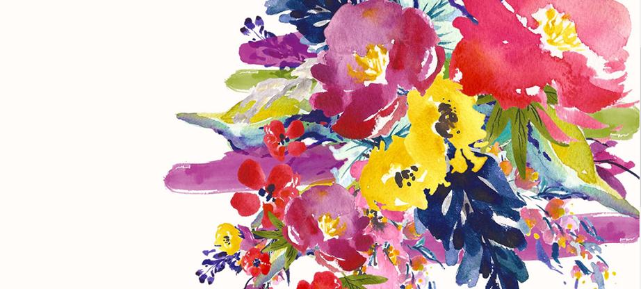 Watercolor Flower Clipart – Lush