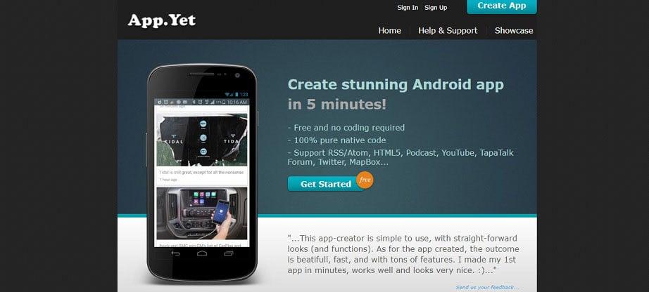 App.Yet Free App Maker