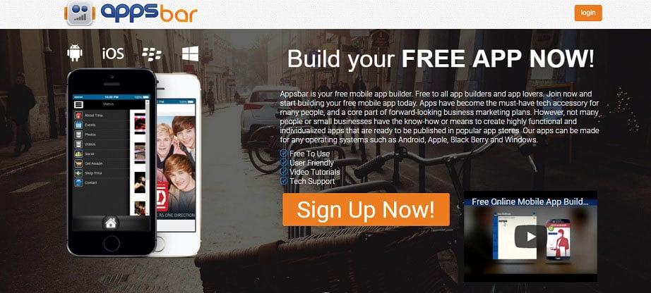 Appsbar Free App Maker