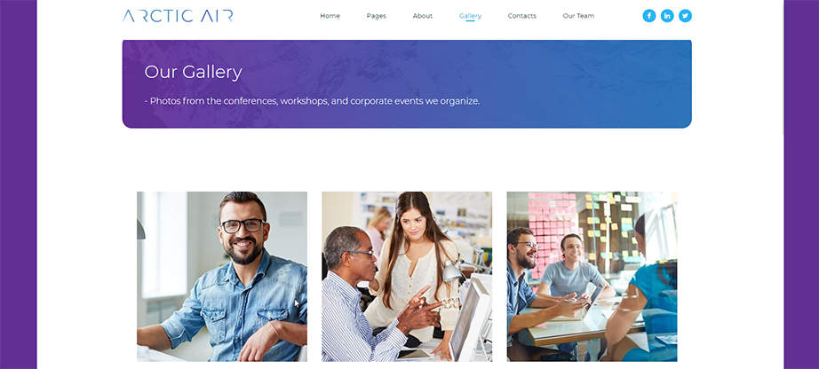 creative gallery template