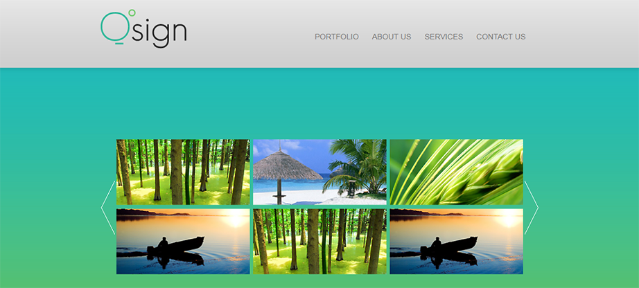 Blue-Green Portfolio Website Template