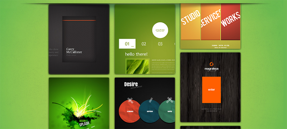 Metro Style Website Template with Vertically Scrolling Gallery