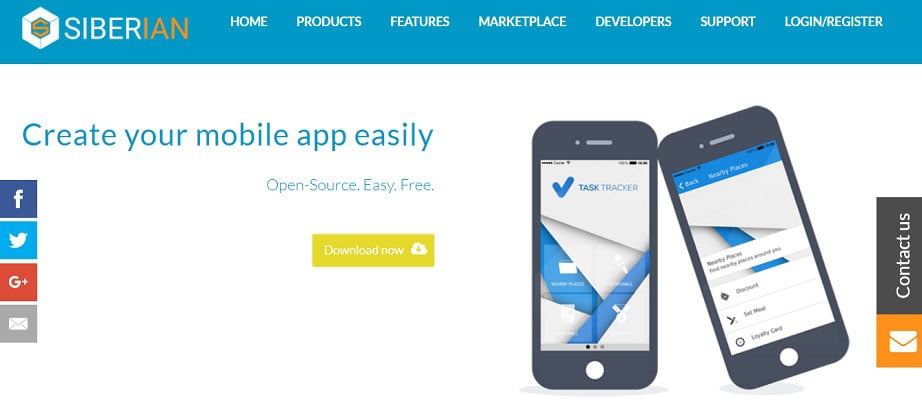 create an app for free with Siberian CMS