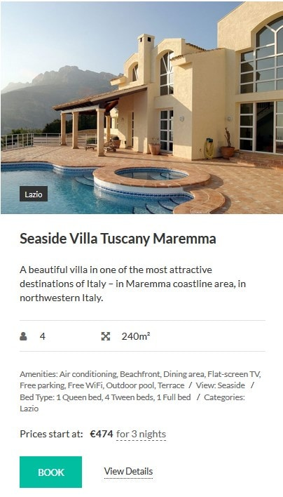 hotel theme wordpress properties