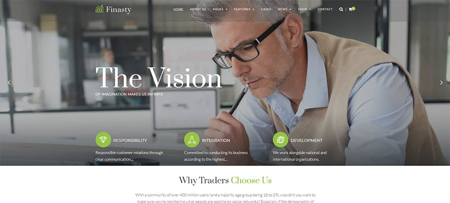 Finasty - Efficient Business Services WordPress Theme