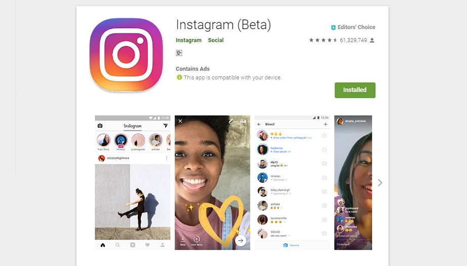 Instagram best social media apps image