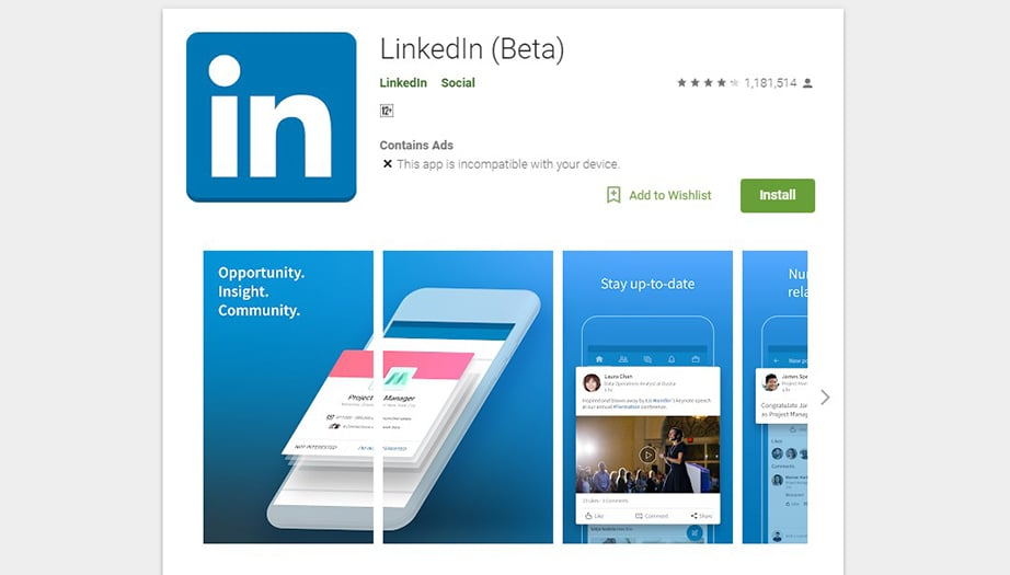 LinkedIn best social media apps image