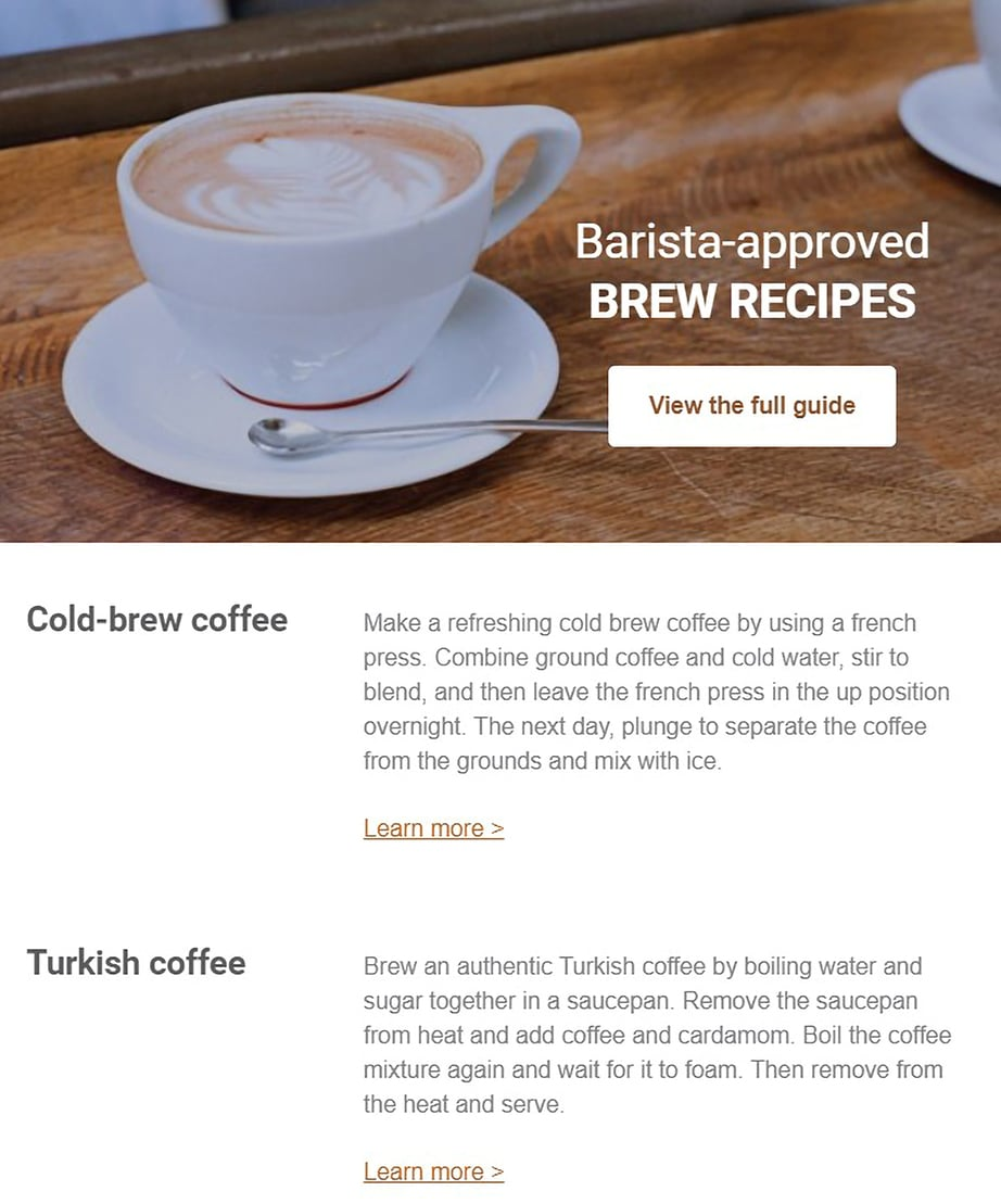 Free Email Templates Recipe Digest Campaign Monitor image