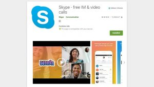 Skype social media apps image