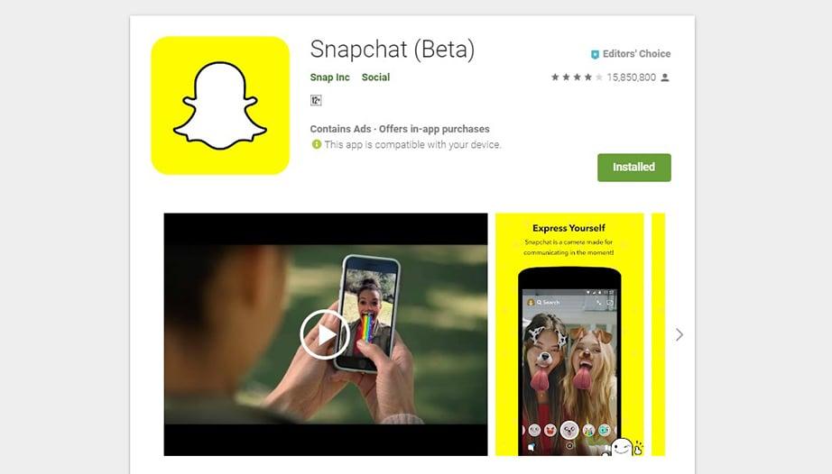 Snapchat social media apps image