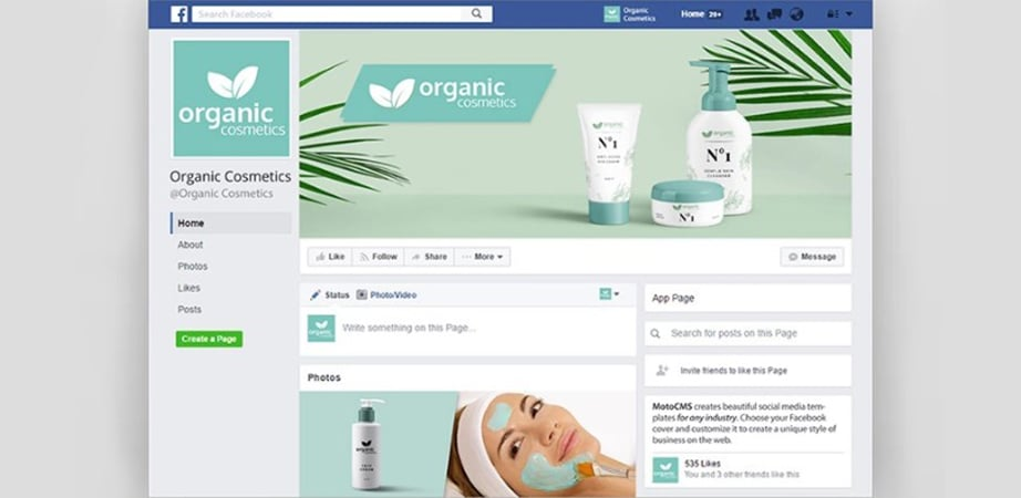 cosmetics fb cover photos with your own name