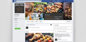 grill cafe facebook cover psd