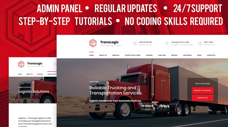 Transportation and Logistics Company Website Template