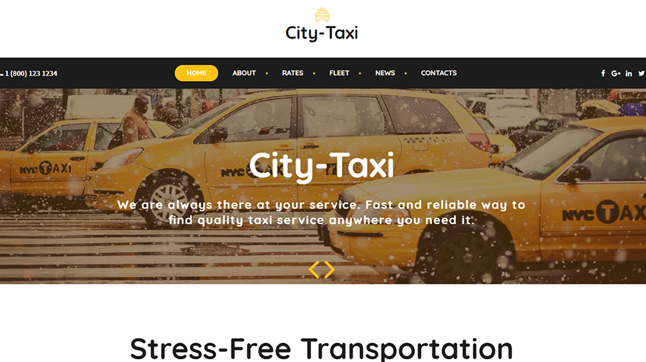 Taxi Service Website Template