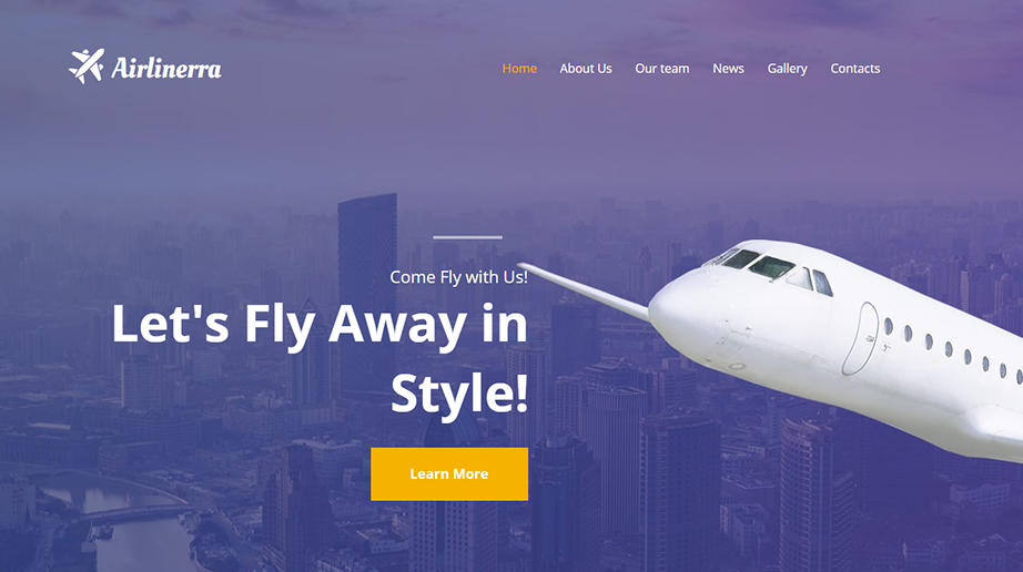 Private Airline Company HTML Template