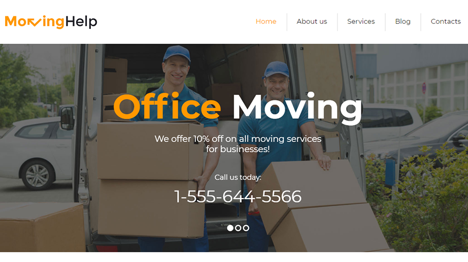 Moving Help Responsive Website Template