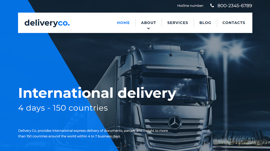 Delivery Co Responsive Website Template