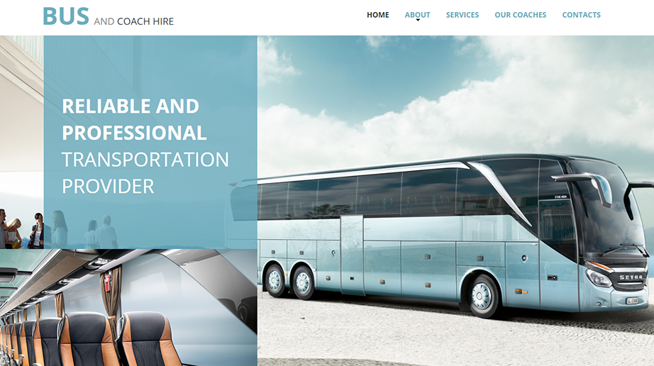 Bus and Coach Hire HTML Website Template