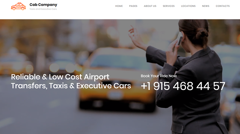 logistic web template taxi adn cab homepage image