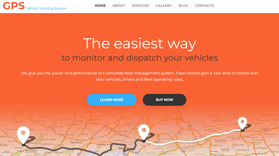 GPS Responsive Website Template