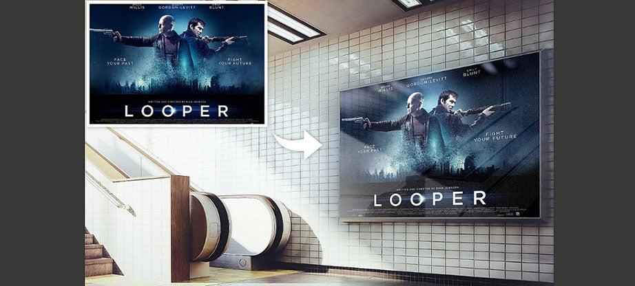Realistic Billboard Poster Mockup PSD