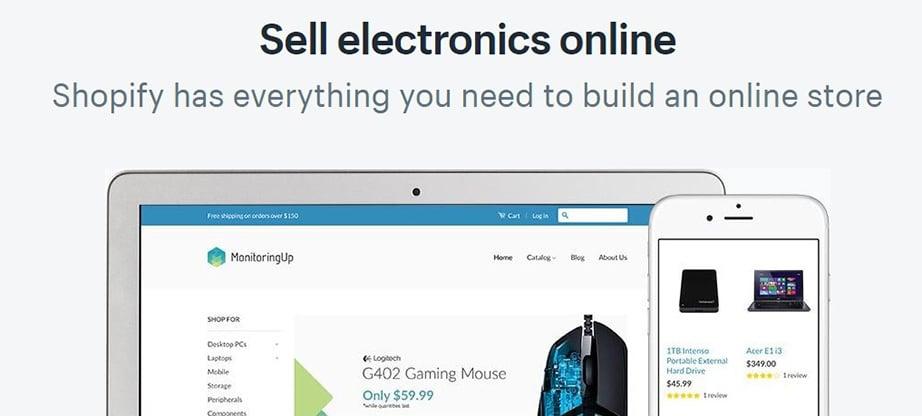 sell electronics image shopify