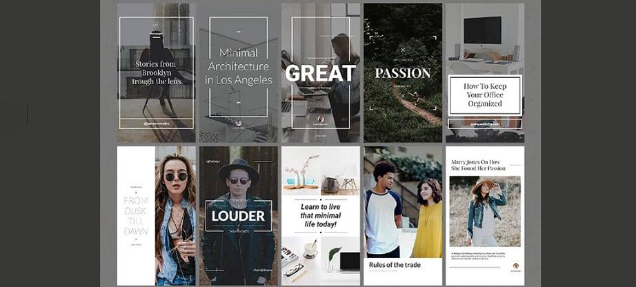50 Instagram Stories Bundle