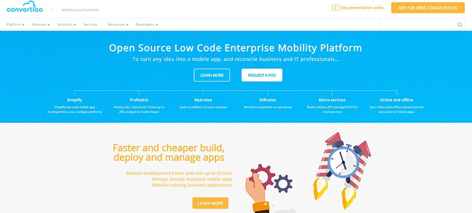 Convertigo Cross Platform Mobile App Development