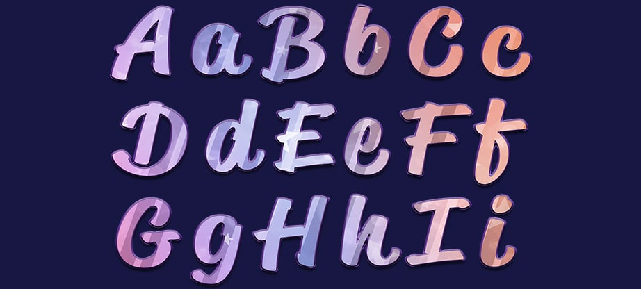 web gradients text