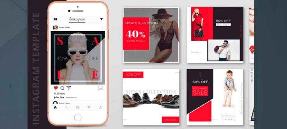 10 Free Fashion Instagram Post Template PSD Designs