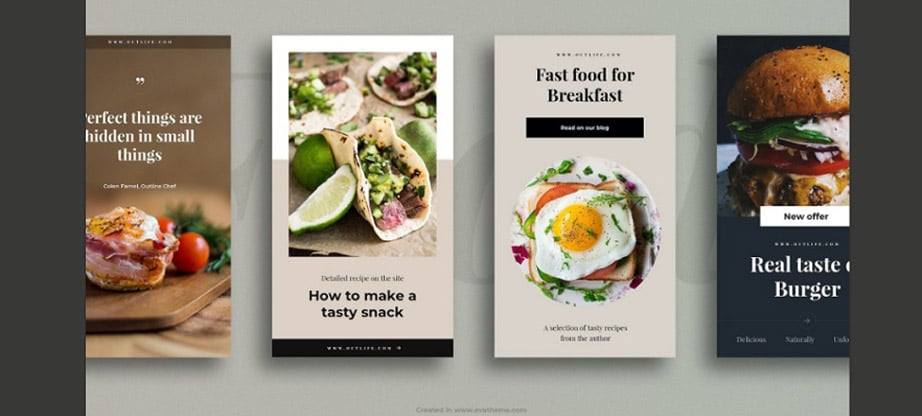 Food Instagram Layout Pack