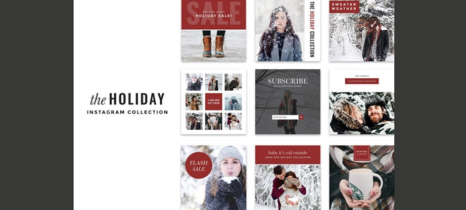 Holiday Instagram Post Template Collection