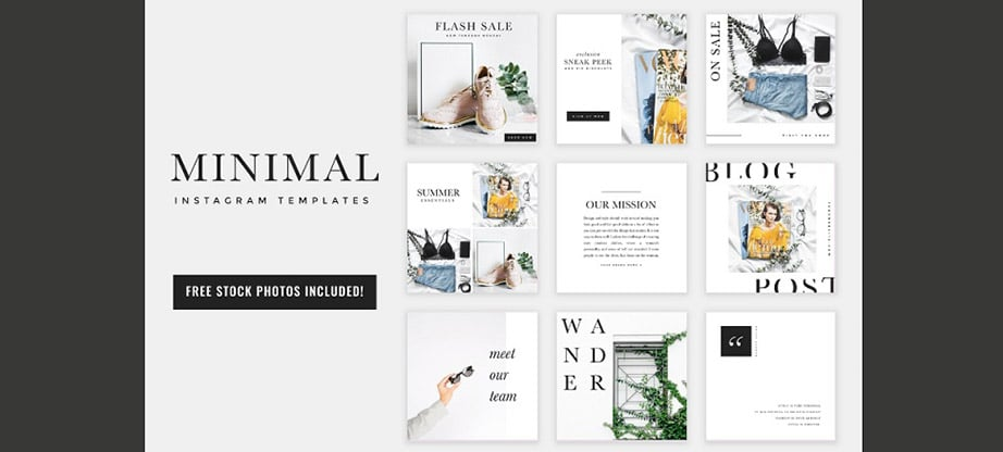 Minimal Instagram Post Template Bundle