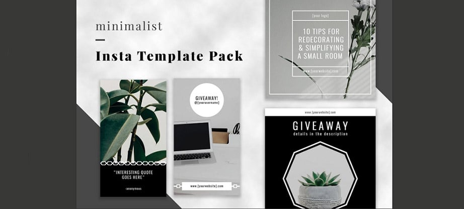 Minimalist Instagram Post Template Bundle