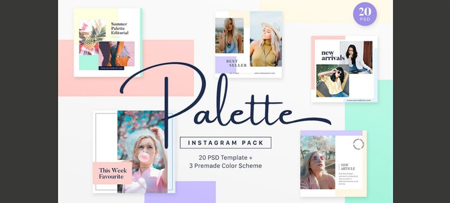 Palette Instagram Post Template Pack