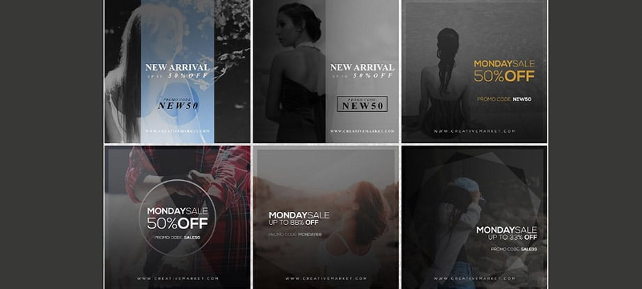 15 Promo Instagram Post Template Package