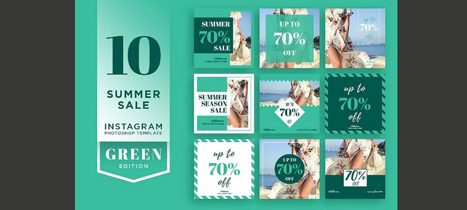 Summer Sale Instagram Template Design