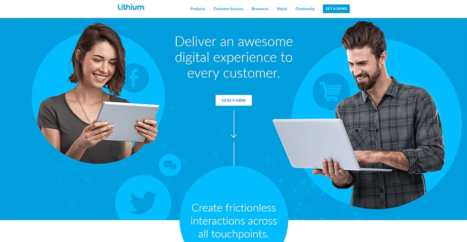 Lithium Onboarding UX Example
