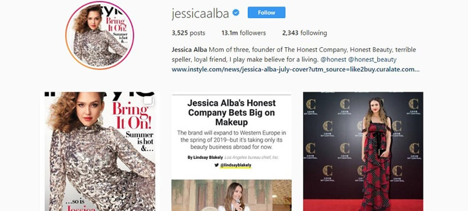 Jessica Alba Instagram Account
