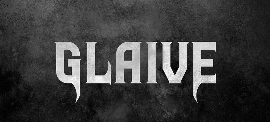 Glaive Rock Band Font