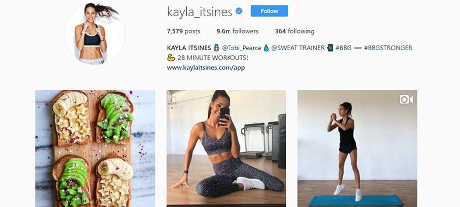 Kayla Itsines Instagram Account