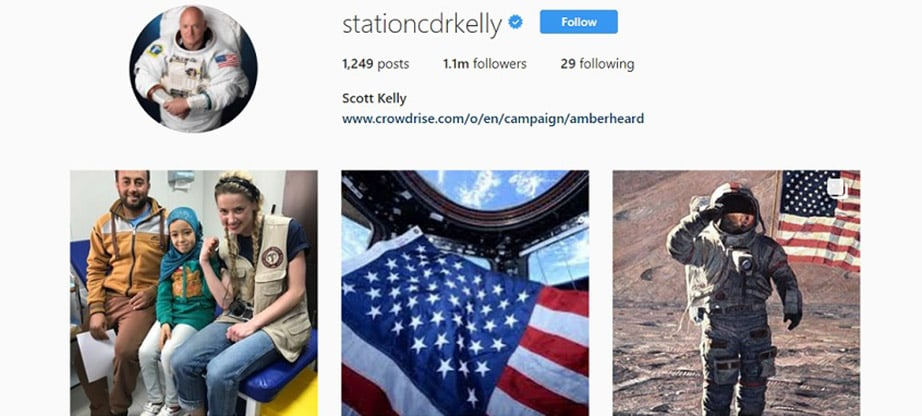 Scott Kelly Instagram Account