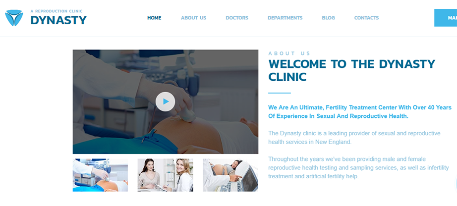 IVF & Fertility Reproductive Clinic Website Template