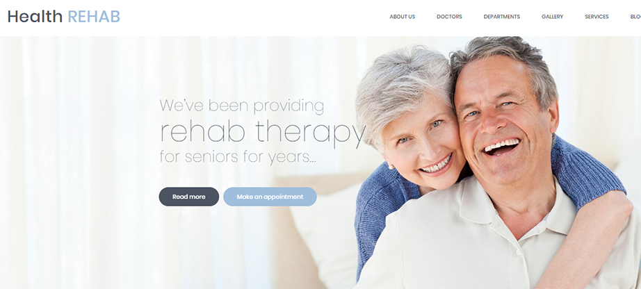 Rehabilitation Center Website Template
